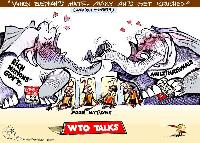 What is the conflict between WTO and free trade arrangements like TPP?