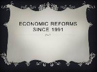 What is New Economic Reforms?